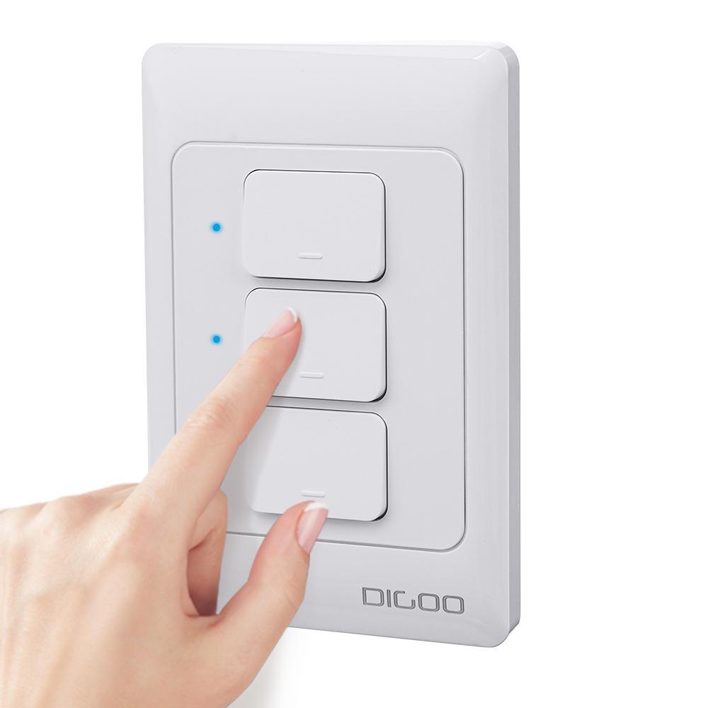 Bộ chuyển đổi tường treo tường thông minh trên tường thông minh SÚC DG-S811 AC100V-250V 600W 1/2/3