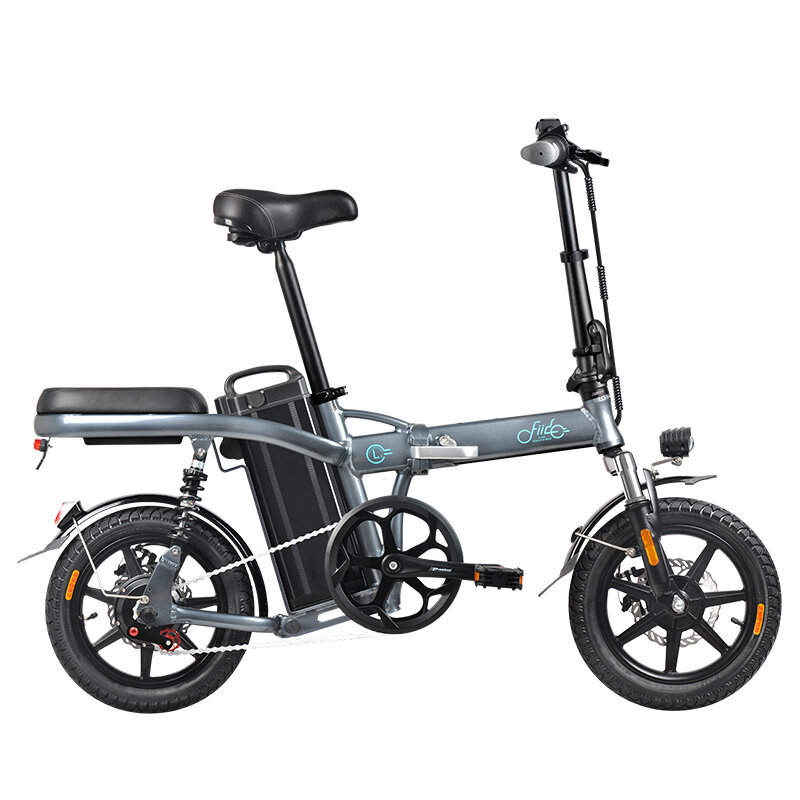Fiido L2 Flagship Version 48V 350W 20Ah Folding Electric Moped Bike 14 inch 25km/h Top Speed 3 Gear Power Boost Electric Bicycle