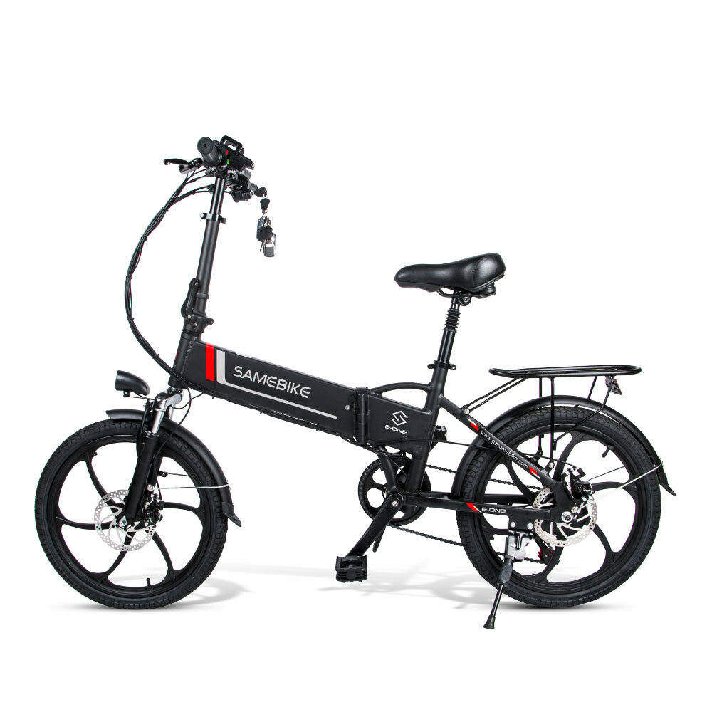 [EU Direct] SAMEBIKE 20LVXD30 10.4AH 48V 350W Electric Moped Bike 20 pollici E-bike 35km/h Top Speed 80km Mileage Range Double...