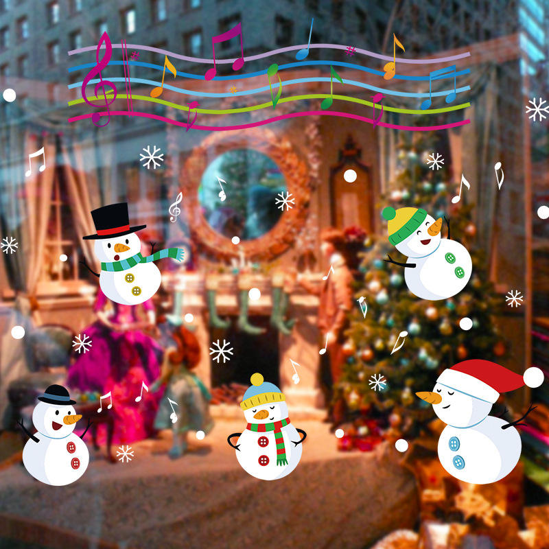 Miico XL838 Christmas Sticker Home Decoration Sticker Window and Wall Sticker Shop Decorative Stickers, Banggood  - buy with discount