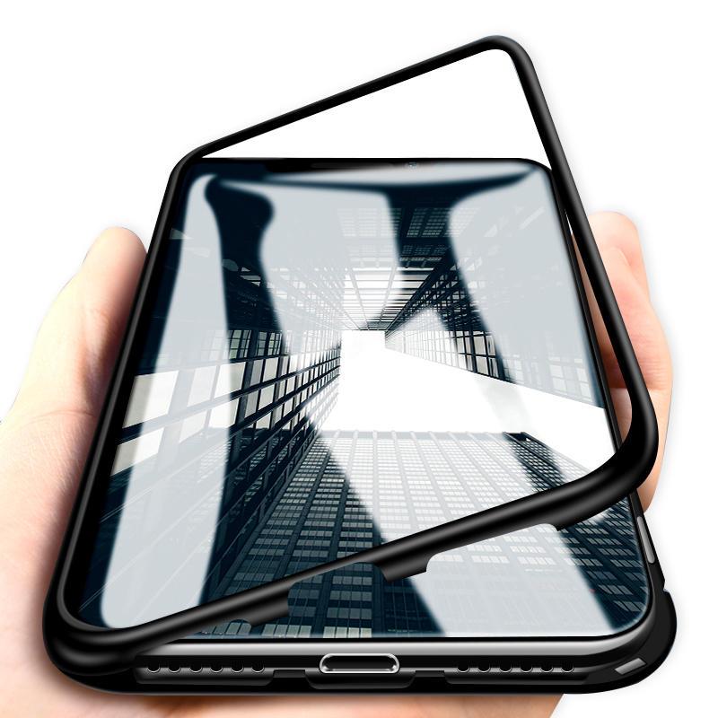 Bakeey magnetisk adsorpsjon metall herdet glass beskyttelsesetui til iPhone 11 Pro 5,8 tommer