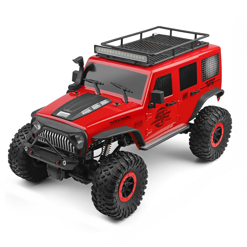 Wltoys 104311 1/10 2.4G 4X4 Crawler RC Car Desert Mountain Rock Vehicle Models With Two Motors LED Head Light