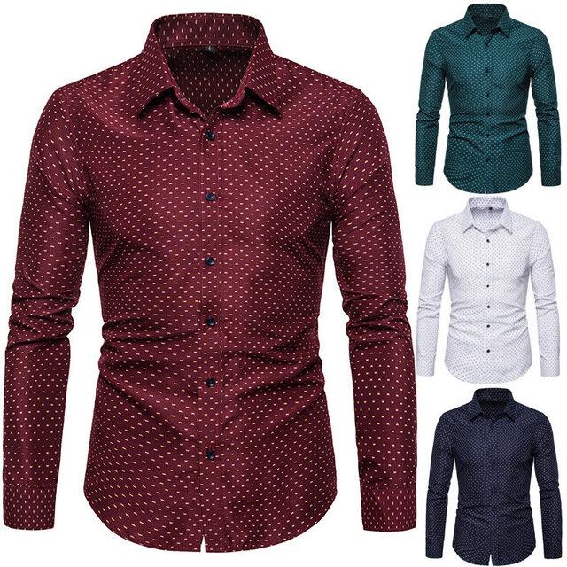 Herre i langærmet Tynd skjorte med langærmet forsyning Business shirts Herretøj