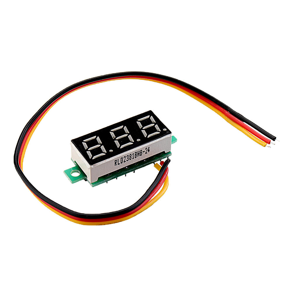 Arduino 3pcs 0.28 Inch Three-wire 0-100V Digital Red Display DC Voltmeter Adjustable Voltage Meter фото