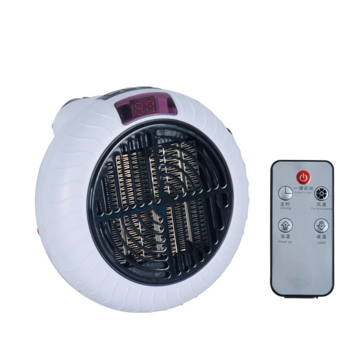 900W Mini Electric Heater Warm Household Wall Handy Heater Office Stove Room