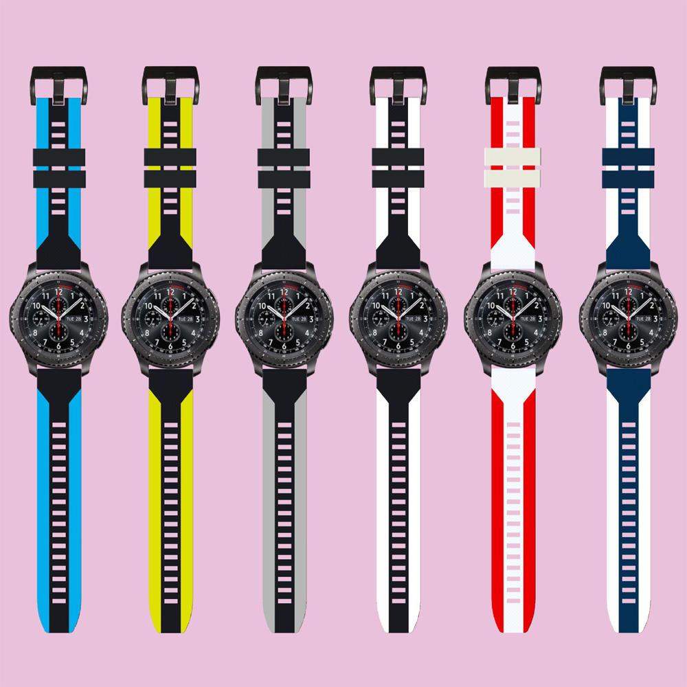 Bakeey Silikonuhr Band Zweifarbiges Armband für Huawei GT2/GT Amazfit GTR