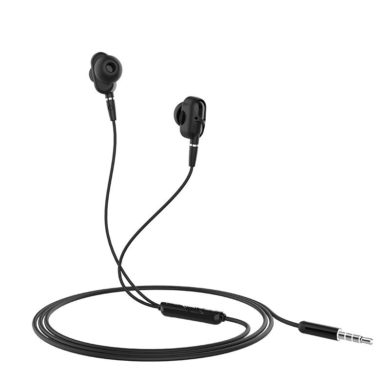 HOCO M62 3.5mm In-ear Stereo Earphone Dual Drive Headphones with Mic for iPhone Samsung