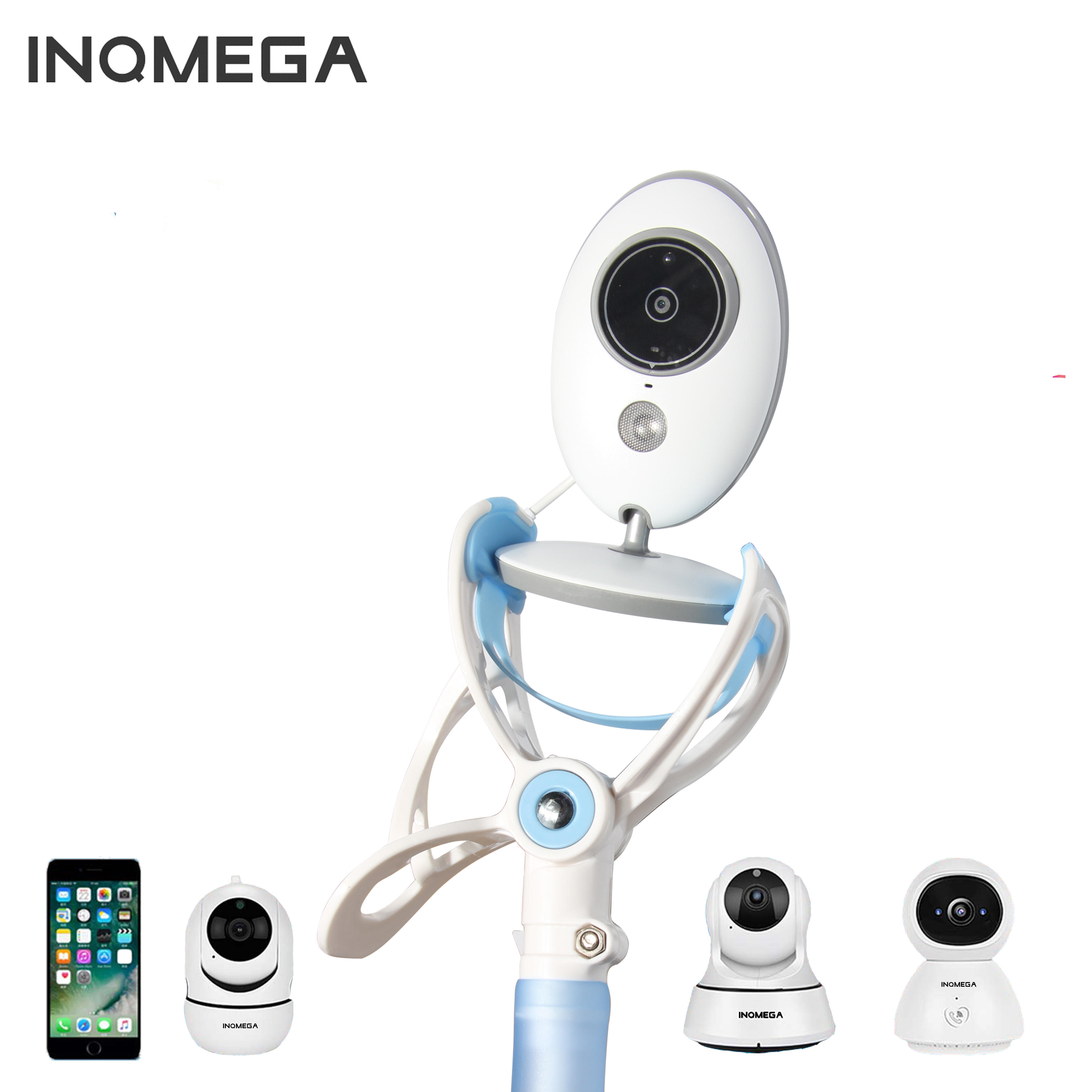 INQMEGA Multifunction Baby Monitors 360° Wall Mount Camera Rack Secure Camera Clamp Phone Holder Bracket Stand Bed Lazy Cradle Long Arm Adjustable