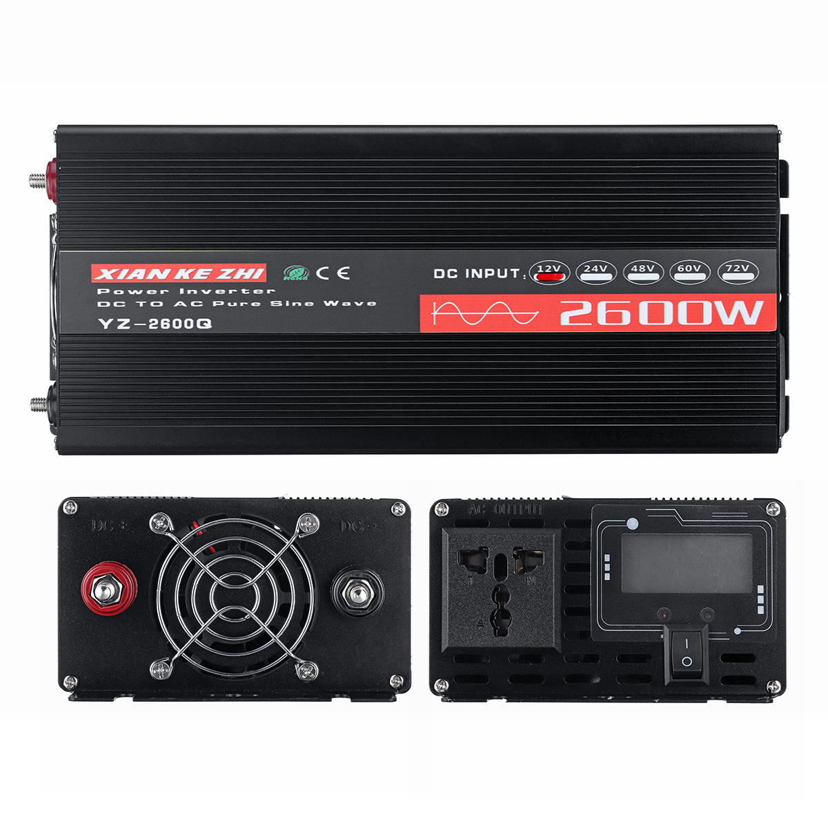 200W DC12V to AC220V Pure Sine Wave DC to AC Power Inverter with Higher Conversion Rate Power Inverter