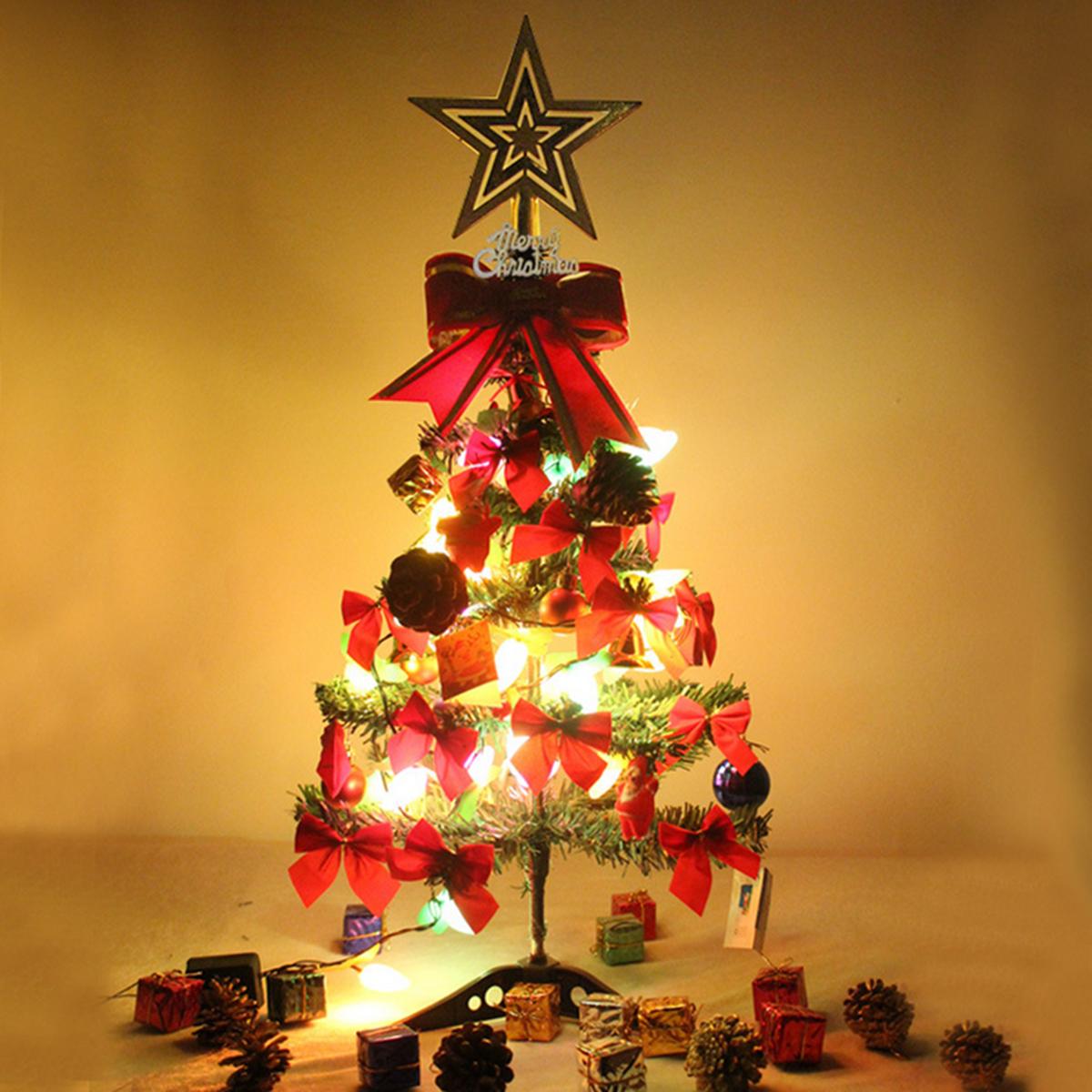 2 pies 3 pies 5 pies con bisagras Artificial XmasTree Decoration luz LED Adorno Inicio Regalos de Navidad Decoraciones Árbol de Navidad