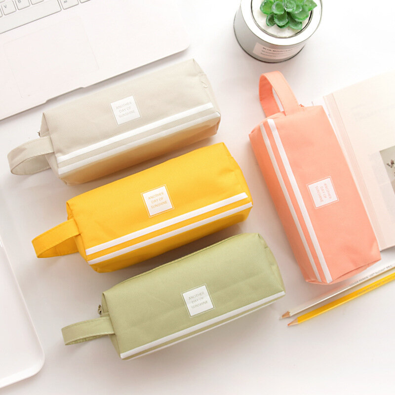 Bakeey W1 Kawaii Double Zipper Large Capacity Stationery Supplies Pencil Case Earphone USB Cable MP3 Memory Card Battery Digital Gadgets Organizer Storage Bag