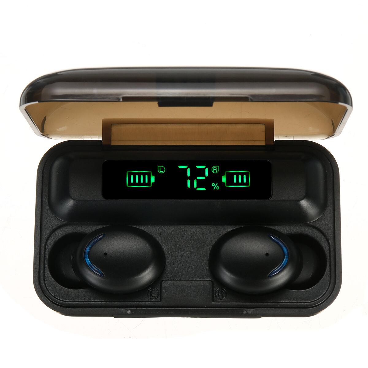 Bakeey F9 TWS bluetooth 5.0 øretelefon Smart Touch 4500mAh Power Bank Mini Ørepropper IPX7 Vandtæt hovedtelefon med mikrofon