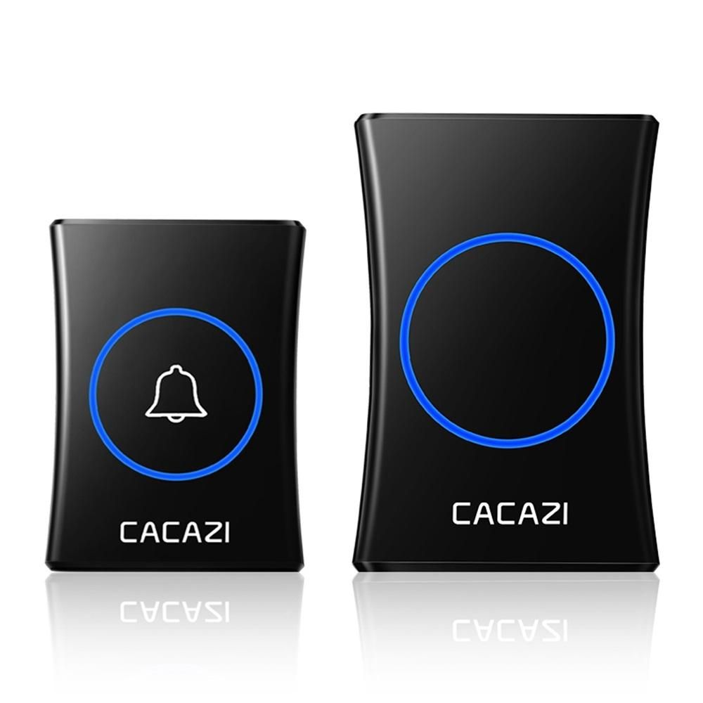 CACAZI A30 Smart Waterproof Wireless Music Doorbell Battery 300M Remote Button Receiver Home Call Ring Bell
