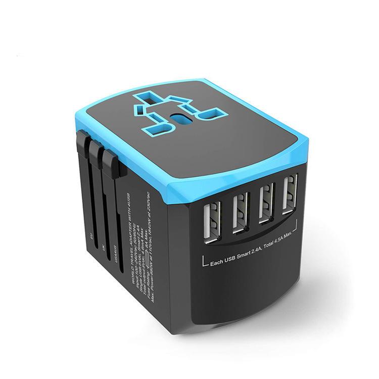 ZHUOLV LX-608C 4xUSB 2000W 8A Traveling Adapter Plug Universal Power Plug Multifunctional Change-over Plug