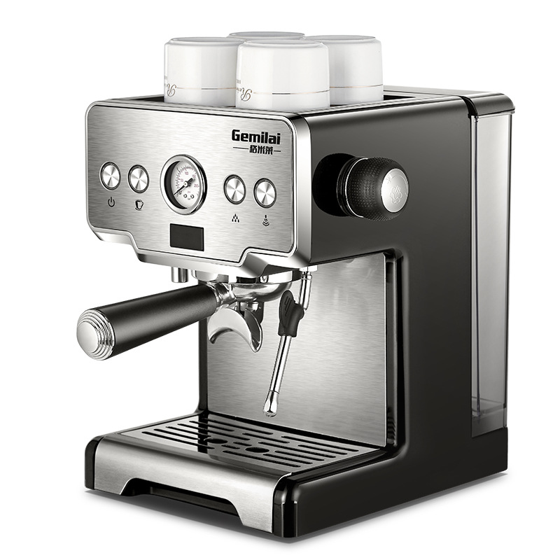Gemilai crm3605 coffee maker machine stainless steel coffee machine 15 bars  semi-automatic commercial italian coffee maker Sale - Banggood.com