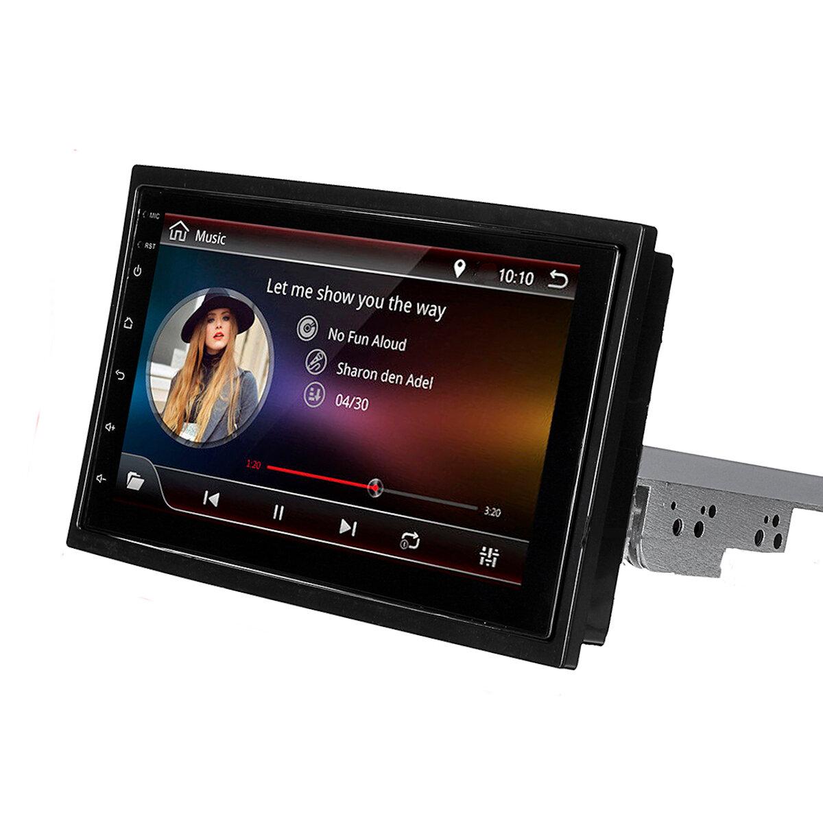 एंड्रॉइड 8.1 कार एमपी 5 प्लेयर रेडियो स्टीरियो 4 कोर GPS टच स्क्रीन वाईफ़ाई एडजस्टेबल रोटेशन के लिए 7 इ