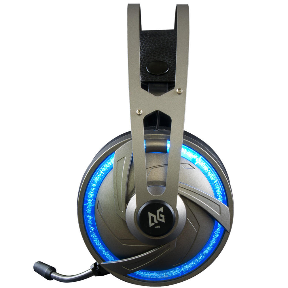 A60 Gaming Headphone USB 7.1 Channel RGB Light Over-ear Stereo Headset for Laptop Computer