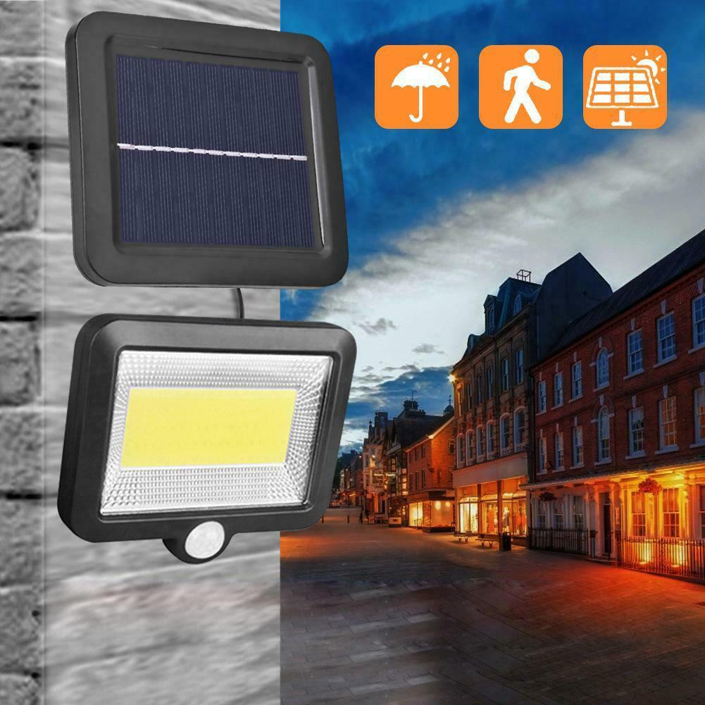 30W Solar Power COB 100LED PIR Sensor Motion Flood Lamp Waterproof IP65 Outdoor Street Garden Yard Camping Light Spotlight