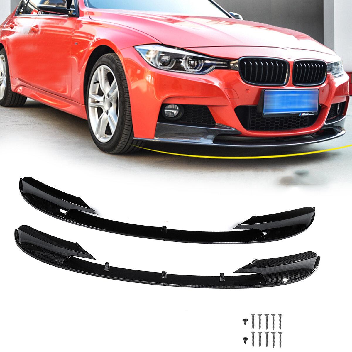 Carbon Fiber Splitter Front Bumper Lip For BMW F30 Sedan M Tech Sport 2012-2018