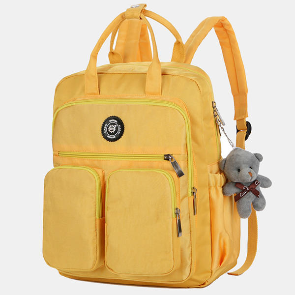 Women Girl Small Pure Color Cute Daily Casual Outdoor Bag Backpack School Bag Student