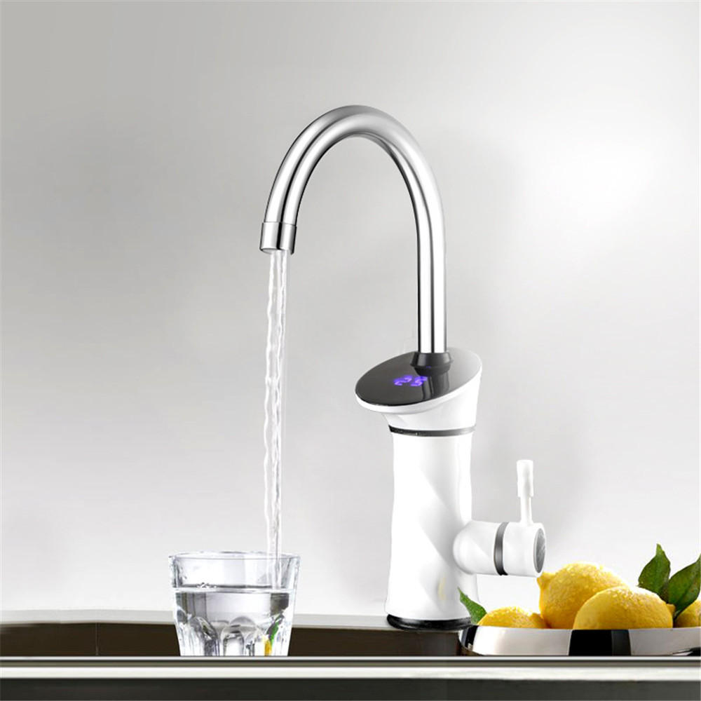 3000W Intelligent Automatic Instant Electric Water Heating Faucet Kitchen Water Heater Tap LCD Display