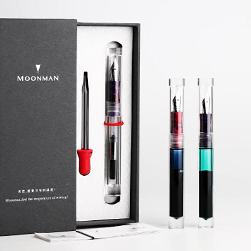 Moonman C1 Eye Dropper Filling Fountain Pen Fully Transparent Large-Capacity Ink Storing with Converter 0.6mm Nib Fashion Gift