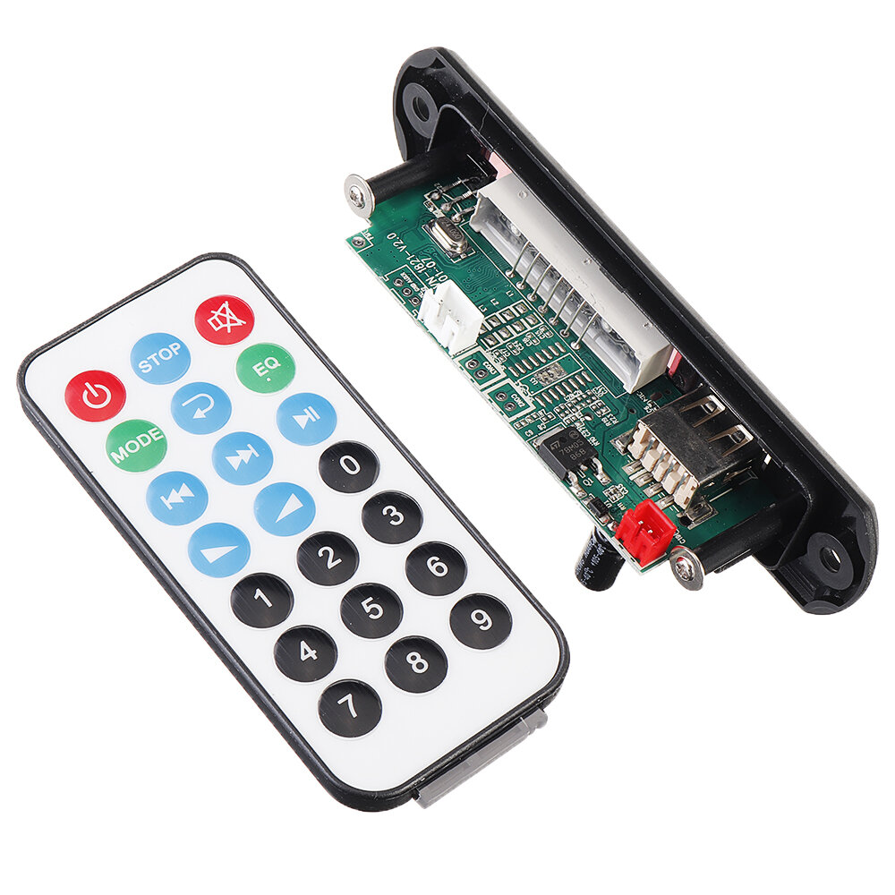 12V bluetooth 5.0 Power Lossless MP3 Audio Decoder Board Accessories for Pull Rod Audio USB AUX TF, Banggood  - buy with discount