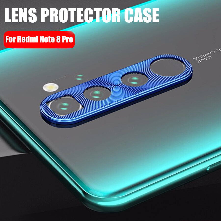 Bakeey Anti-scratch Metal Circle Ring Phone Camera Lens Protector for Xiaomi Redmi Note 8 Pro