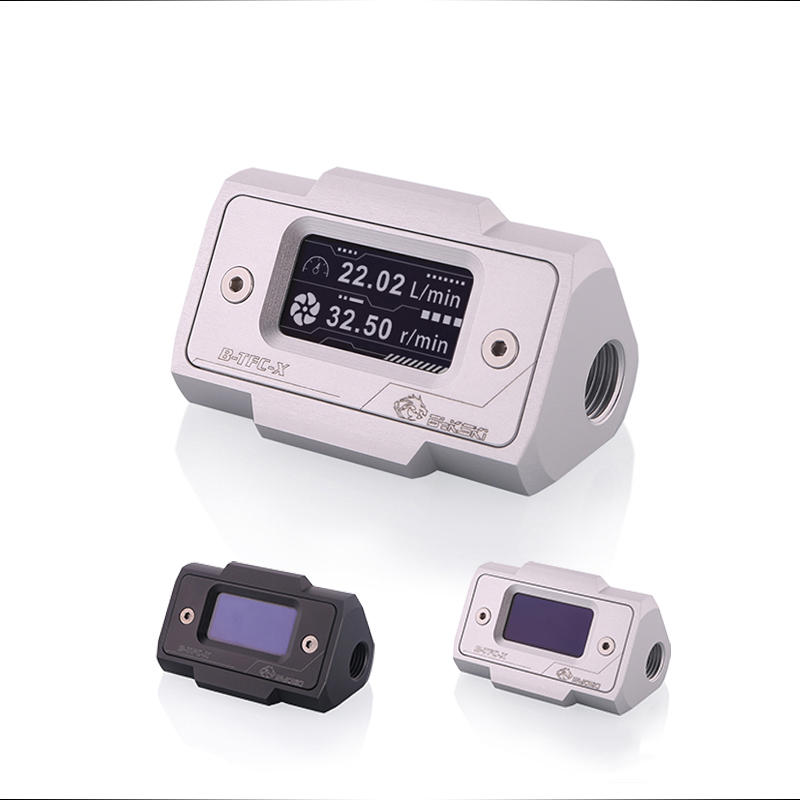 OLED Digital Display Water Temperature Meter Water Cooler System Double G1/4'' Thermometer Temperature Sensor Fitting