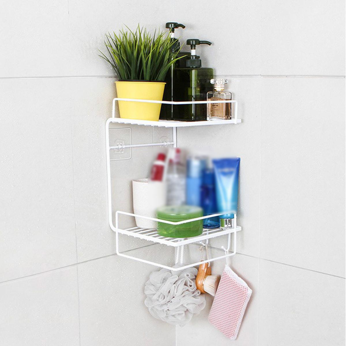 Полка для ванной комнаты Без перфорации Настенная кухонная полка Полка для туалета Стенная угловая полка фото
