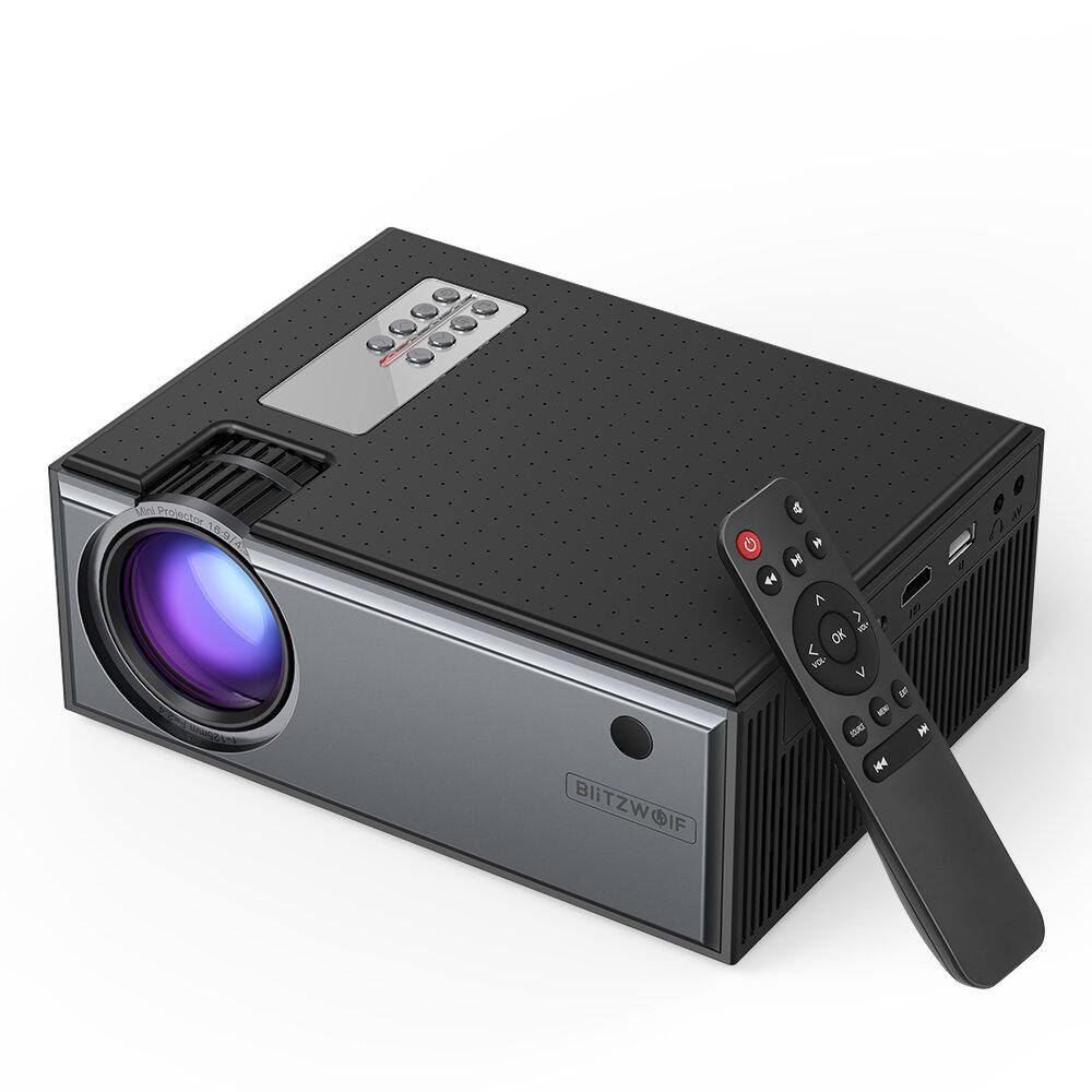 מקרן LCD BW-VP1 של Blitzwolf® 2800 Lumens תומך 1080P קלט יציאות מרובות מקרן קולנוע ביתי חכם נייד עם שלט רחוק