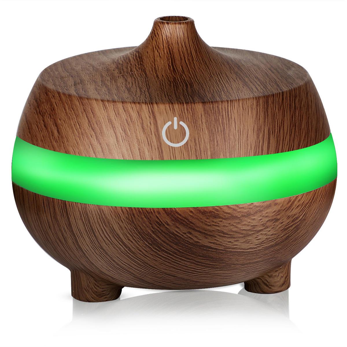 300 ml Minyak Esensial Diffuser Air Humidifier dengan 7 Warna Lampu USB Diffuser Aromaterapi dengan Auto Shut-off Fungsi Keren Mist ...