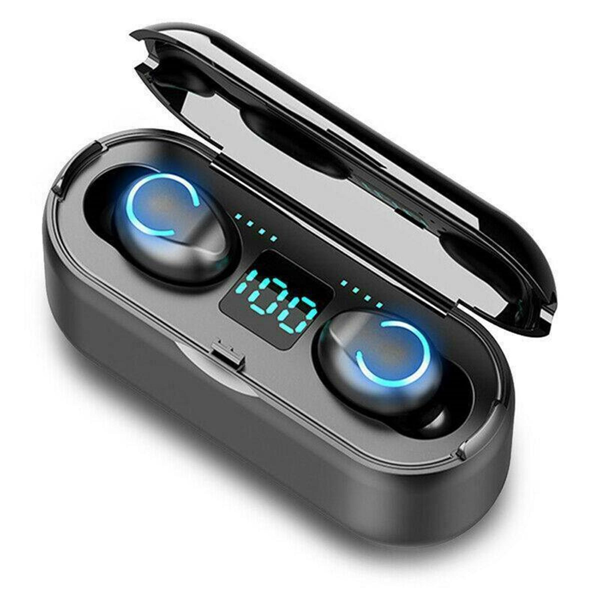 F9-8 TWS Беспроводные наушники Bluetooth 5.0 Наушник HiFi стерео 3500mAh Power Bank IPX7 Водонепроницаемы Наушники с мик