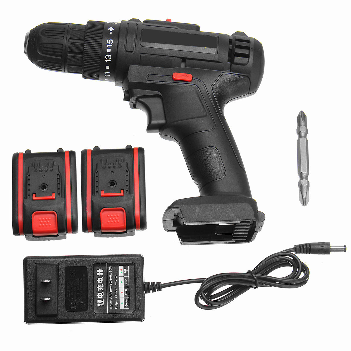 68VF Cordless Lithium-Ion Drill/Driver Rechargable Electric Drill Adjustable 3200r/min 2 Speed Hand Drill With 1 Or 2 Battery