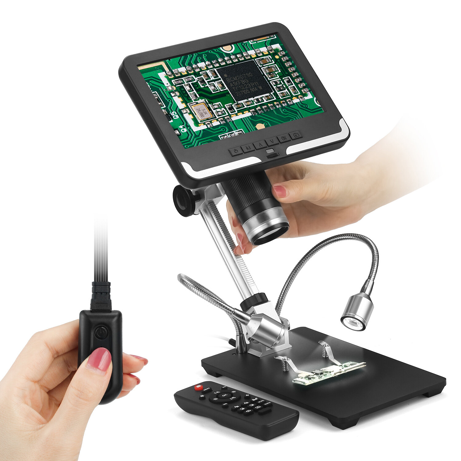 Andonstar AD206 1080P 3D Digital Microscope Soldering Microscope for Phone Repairing SMD / SMT