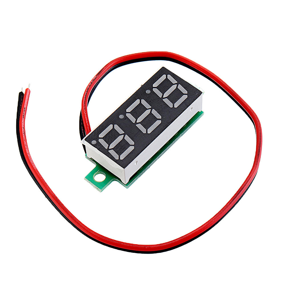 Arduino 20pcs 0.28 Inch Two-wire 2.5-30V Digital Green Display DC Voltmeter Adjustable Voltage Meter фото