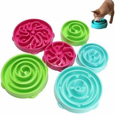 Pet Dog Katze Interaktive Slow Food Bowl Gesundes Anti-Rutsch-Gulp-Futter Aufblähen