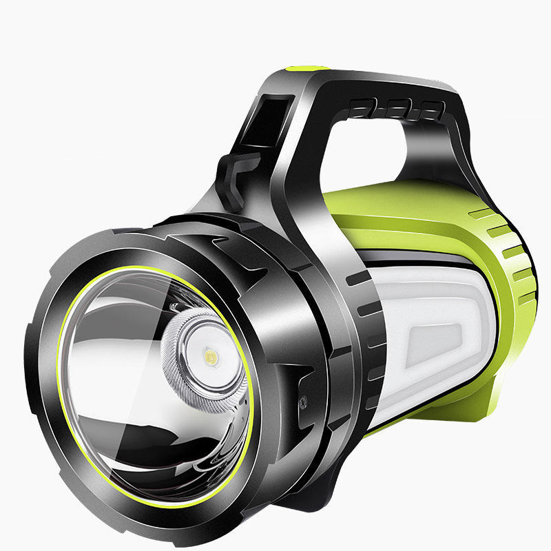 XANES® 881-B 2 Light Source 300W 3000LM Super Bright Flashlight USB Rechargeable 1000m Searchlight