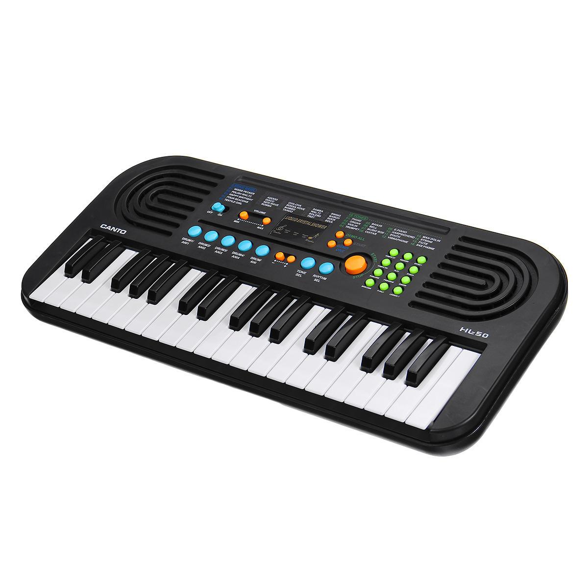 37 Phím Bàn phím Điện tử Kỹ thuật số Piano có Micrô Nhạc cụ Đồ chơi cho Trẻ em Khai sáng Âm nhạc