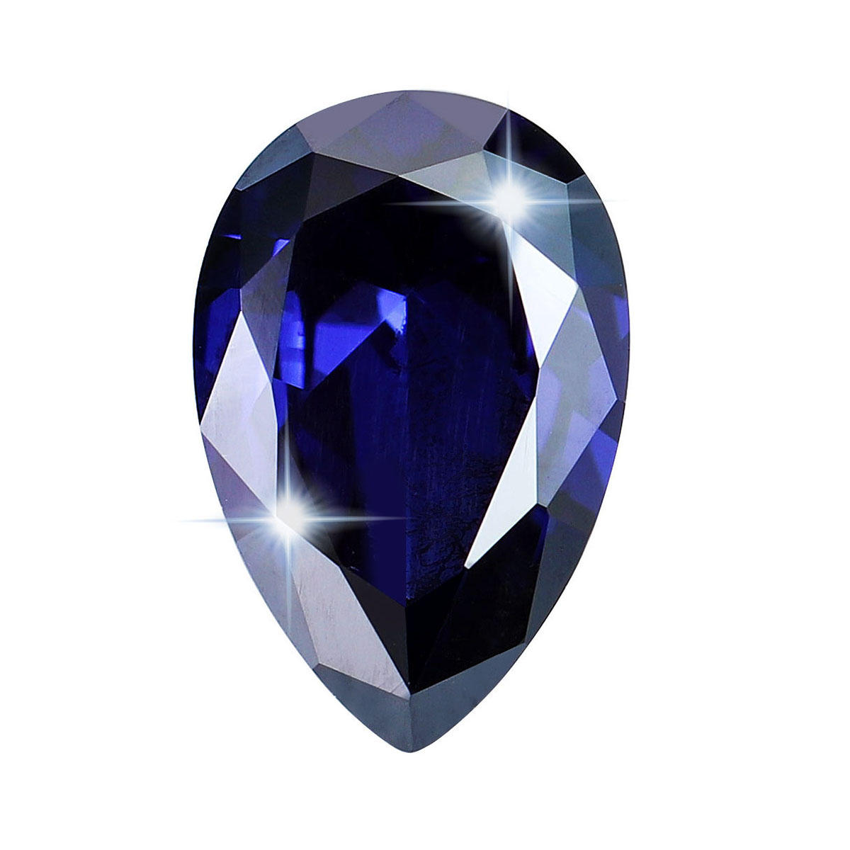 Royal Tanzanite Loose Gemstone 6 hingga 8 Cts AAA Pear Shape Blue Sapphire Diamonds Dekorasi