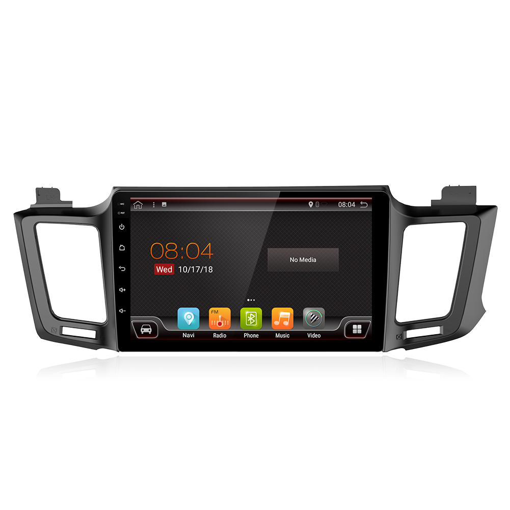 YUEHOO 10.1 Inch 2 DIN for Android 8.0 Car Stereo 2+32G Quad Core MP5 Player GPS WIFI 4G FM AM RDS Radio for Toyota RAV4 2013-2017
