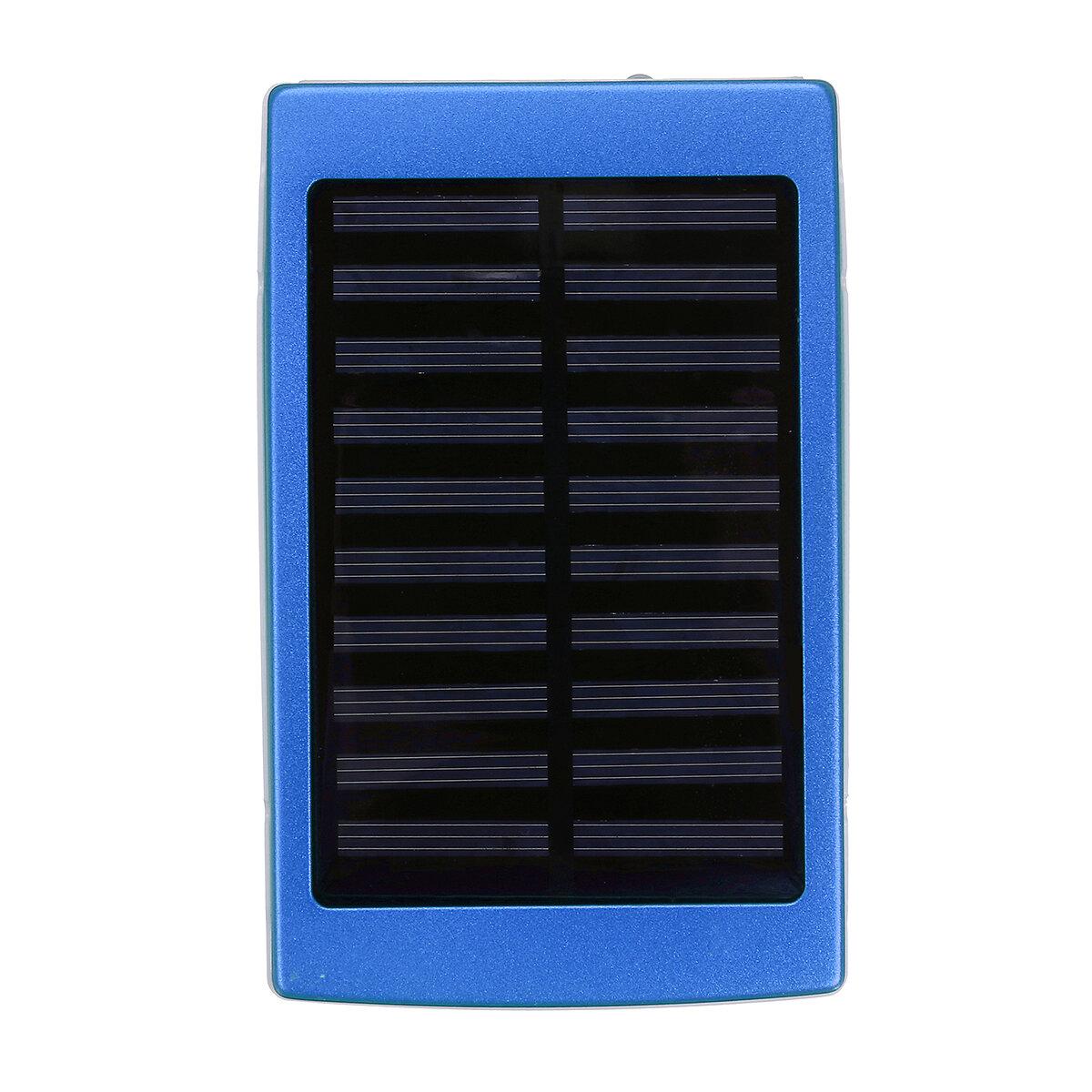 Solar Charger Case Portable DIY 5x18650 Power Power Bank 20000mAh Solar Power Bank Case Box Dual USB Kit Phone Charger Flashlight