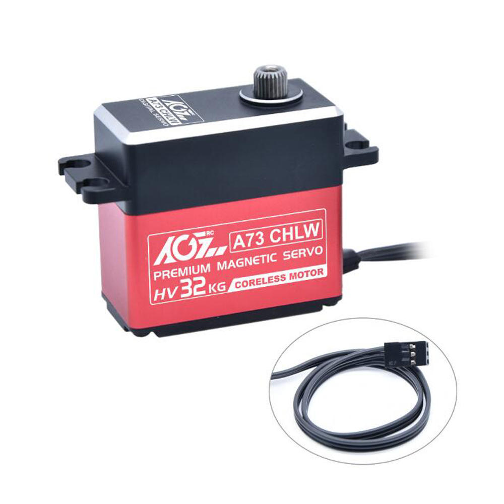 AGF A73CHLW 32kg All Metal Waterproof RC Car Servo For 1/8 1/10 Crawler Buggy Off Road Vehicle Airplane фото