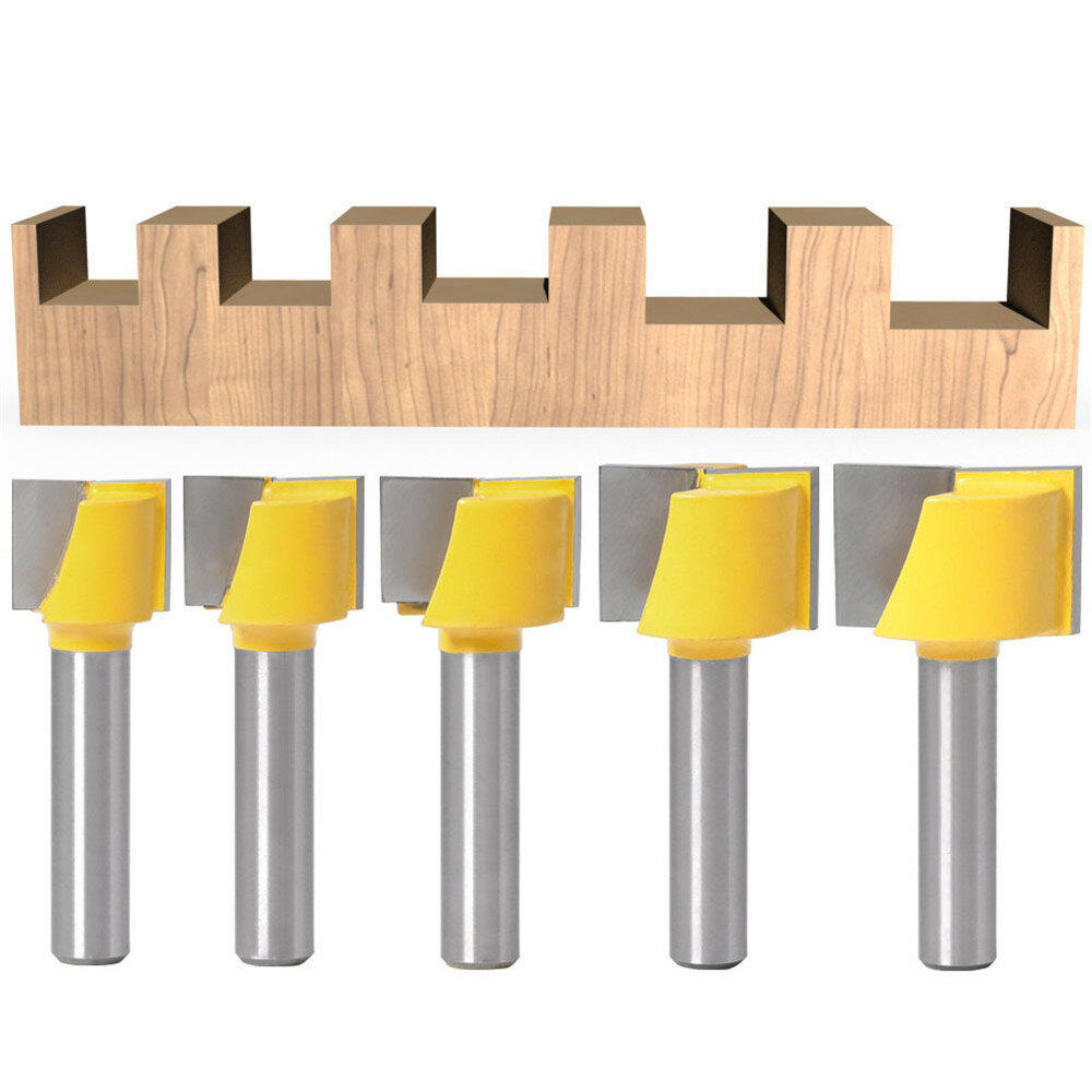 Drillpro 16-25mm Router Bit 8mm Shank Surface Planing Bottom Cleaning Wood Milling Router Bit for CNC