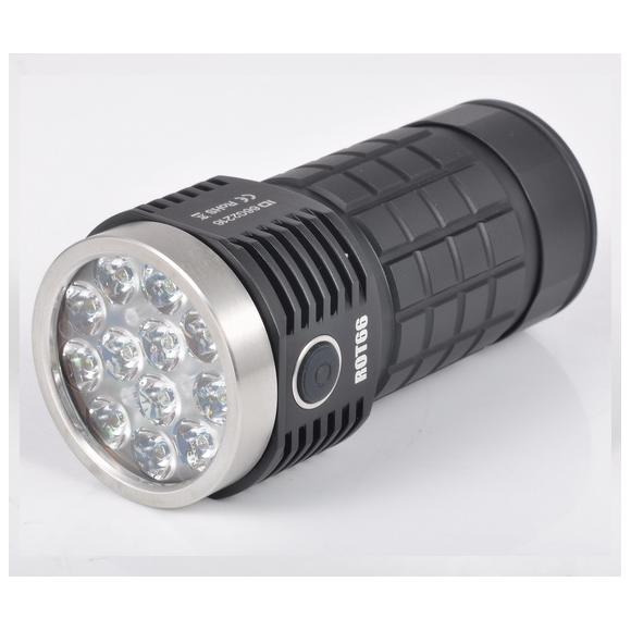גחליליות ROT66 דור II SST20 / Nichia / XPL HI / Osram 7000 ~ 10000 לומן + עדשת TIR 45 מעלות EDC פנס LED