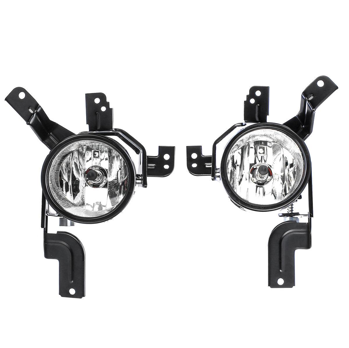 Car Front Left/Right Fog Lights Lamps with H11 Halogen Bulb For Honda CR-V CRV 2007-2009
