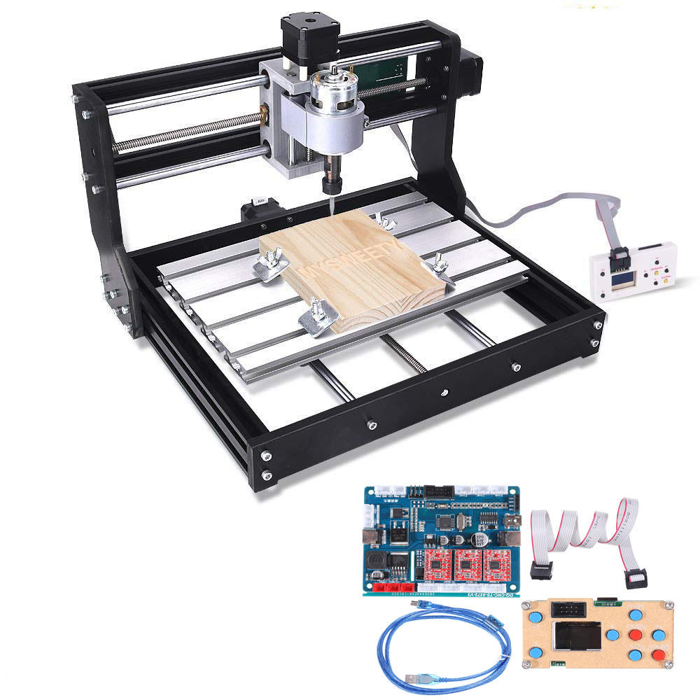 Offline Controller 2418 PRO 3 Axis CNC Router GRBL Control DIY Adjustable Speed Spindle Motor Wood Laser Engraving Machine Milling Machine