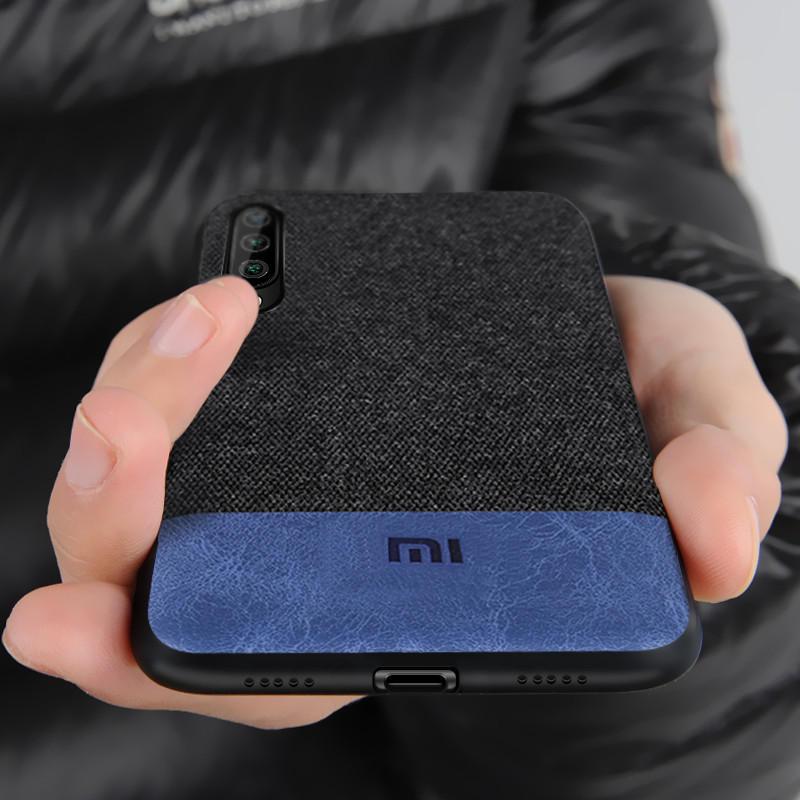 Bakeey Lüks Kumaş Splice Soft Silikon Kenar Darbeye Koruyucu Kılıf Xiaomi Mi A3 / Xiaomi Mi CC9e
