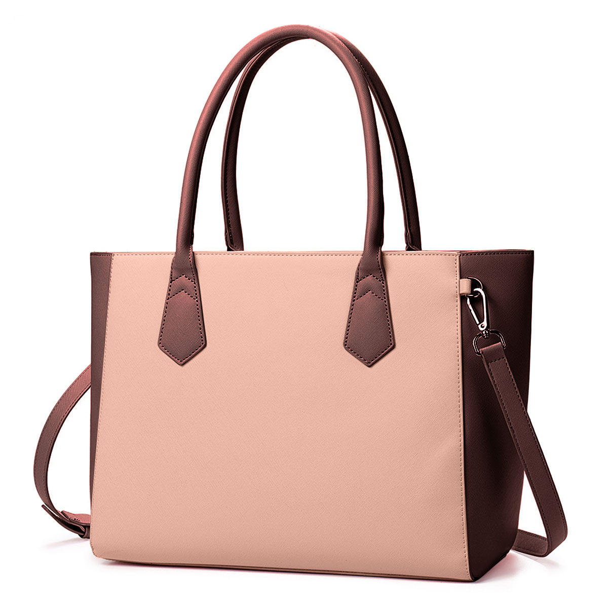 Women Fashion Casual Shopping Multifunction Patchwork Shoulder Bag Handbag, Brenice  - buy with discount
