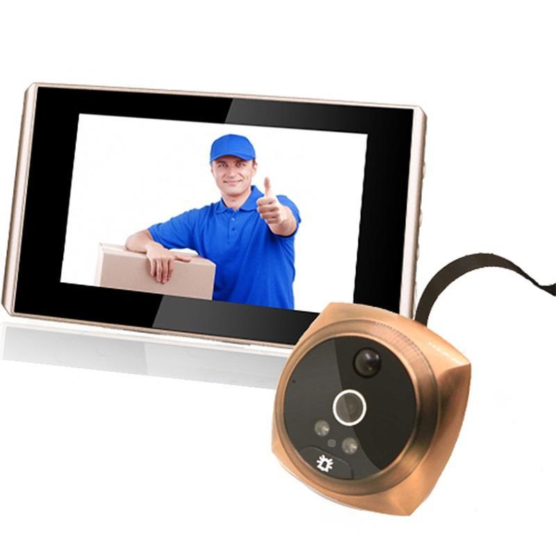 4,3-дюймовый LCD экран видео глазок 4300E цифровой 2MP 1080P дверной глазок дверной звонок дверной звонок ночного видени фото